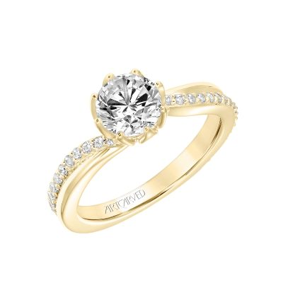 Artcarved Engagement Ring - 31-v776ery-e_angle